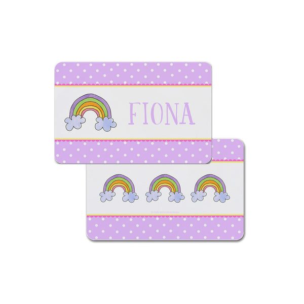 Rainbow Personalized Kids Placemat