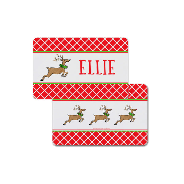Reindeer Personalized Kids Placemat Christmas