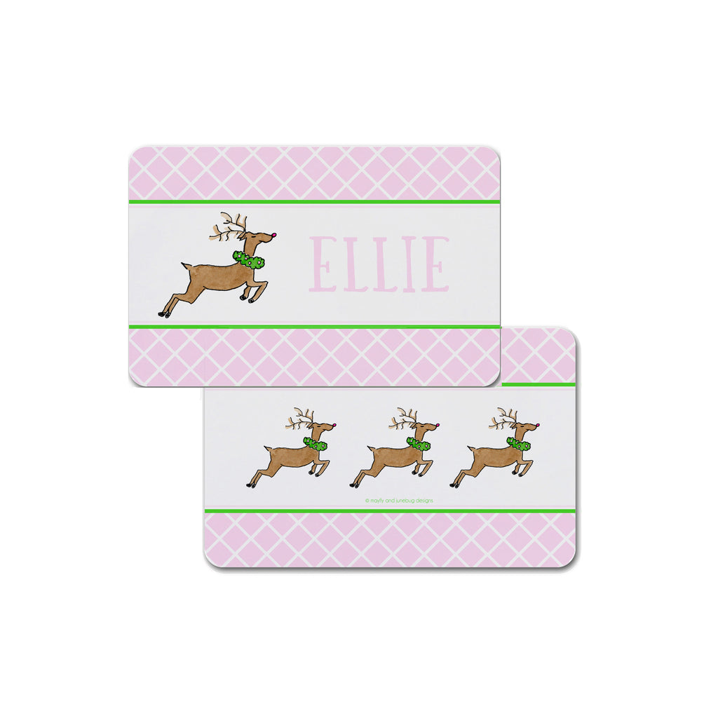 Christmas placemat for kids personalized reindeer