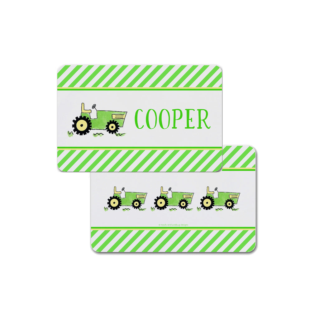 farm tractor personalized placemat place mat for kids