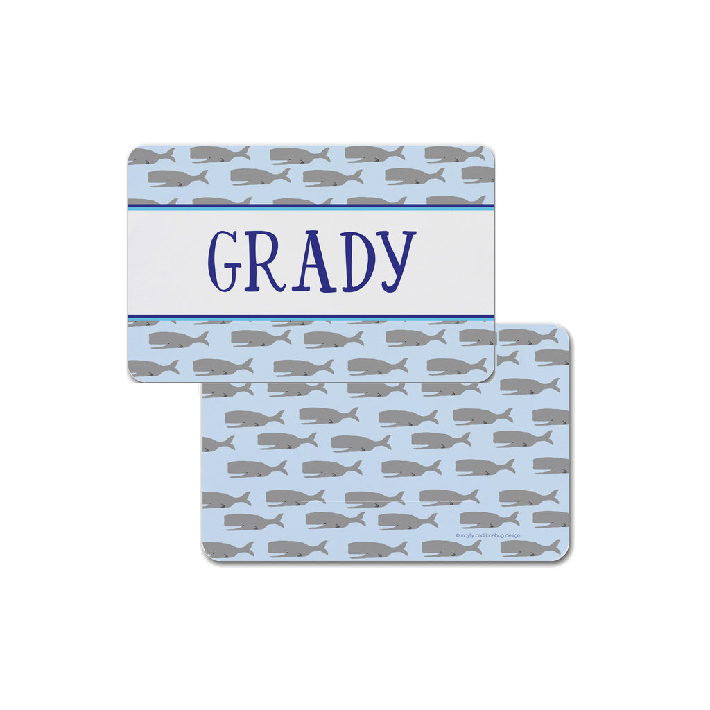 whale personalized placemat place mat for kids