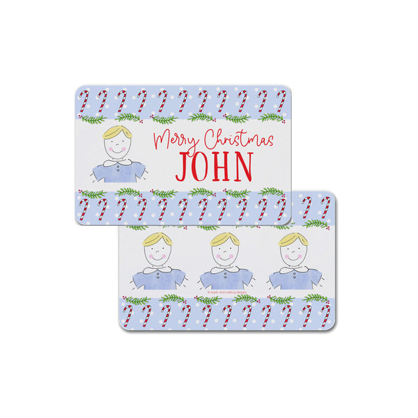 boy christmas placemat personalized custom