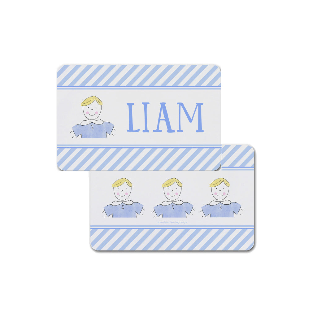 custom boy kid placemat personalized face