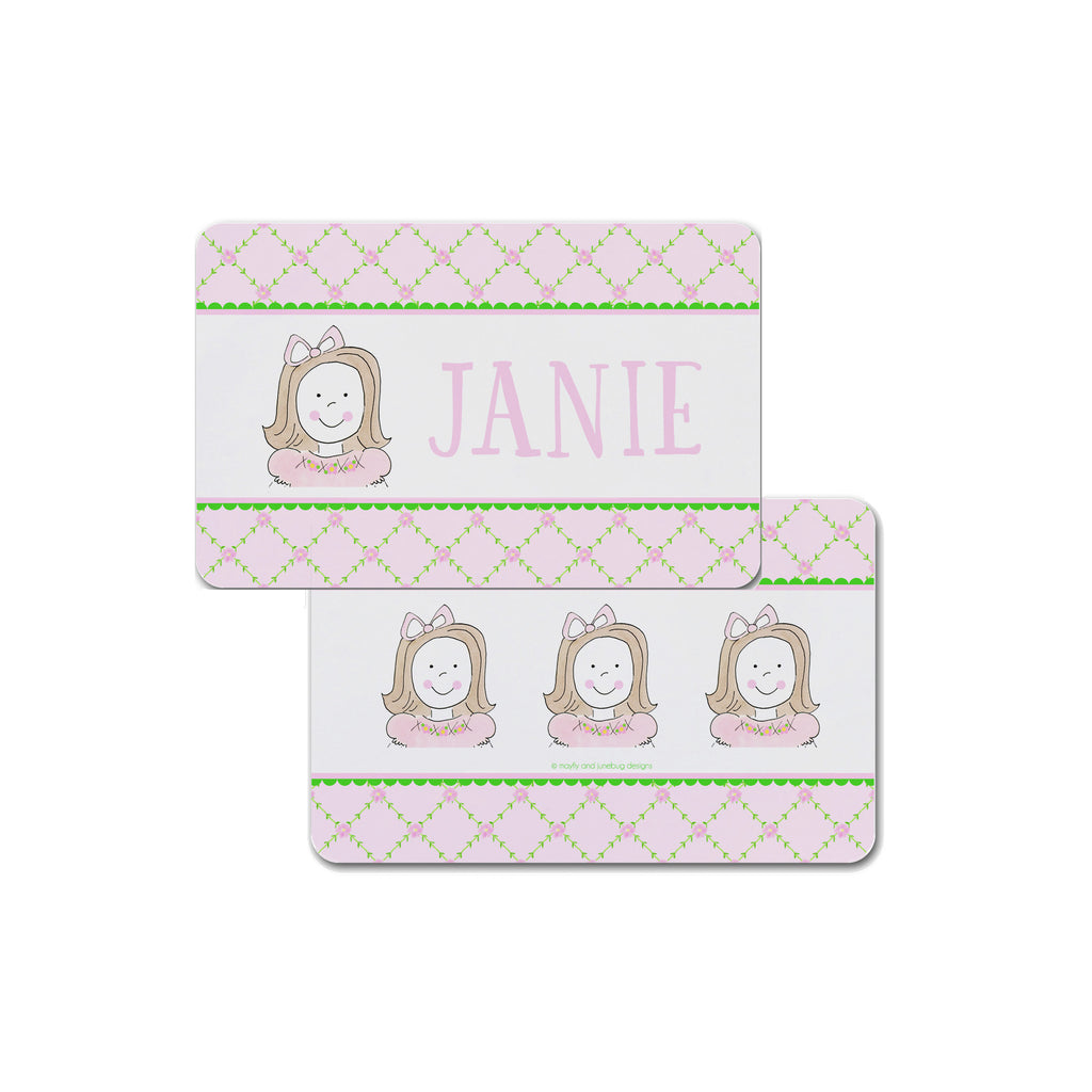 Custom Girl Face personalized placemat