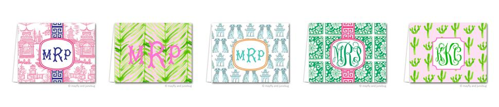 Monogrammed Stationery by Mayfly and Junebug Designs