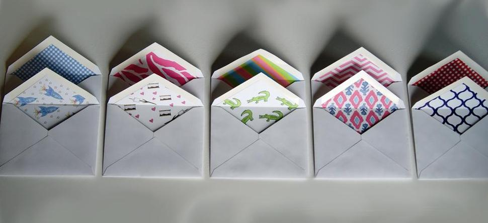 Custom Envelopes by Mayfly and Junebug Designs