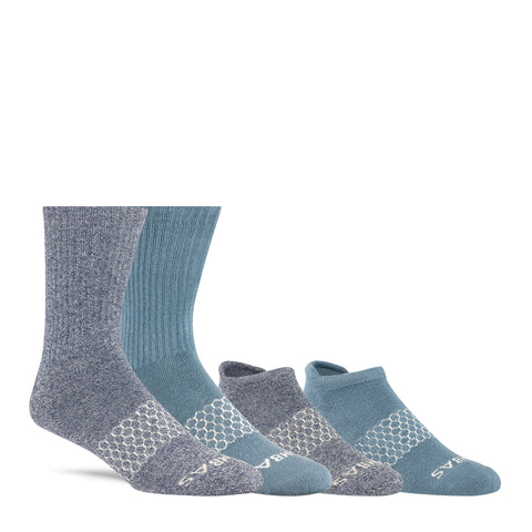 Men's Spring Shades Ankle & Calf Four-Pack