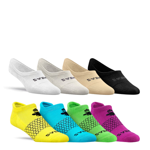 Women's Brights Ankle & No Show Eight-Pack
