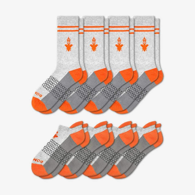 grey-and-blaze-orange Men's Originals Calf And Ankle 8-Pack