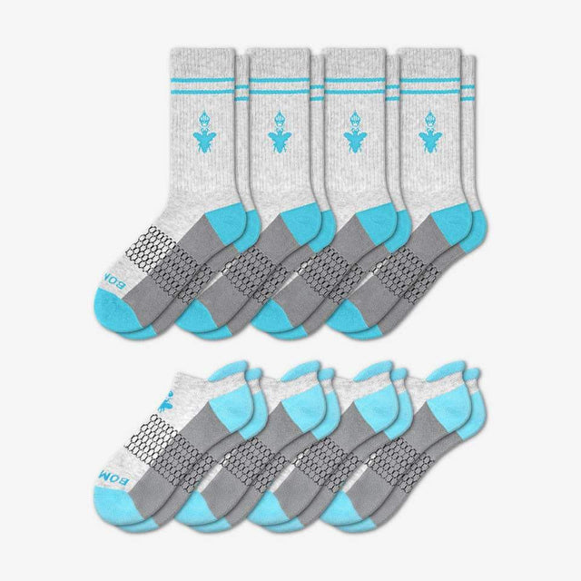 grey-and-ocean-blue Men's Originals Calf And Ankle 8-Pack