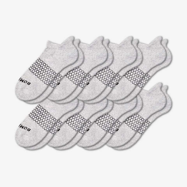 grey Men's Solids Ankle Eight-Pack