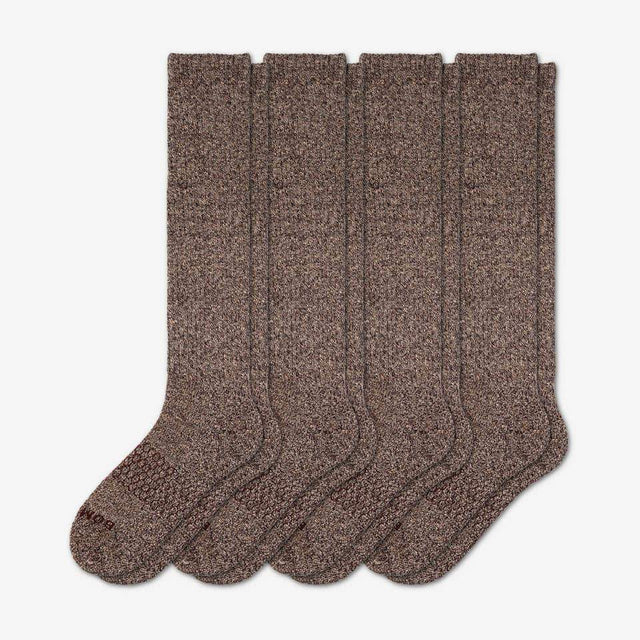 marled-chocolate Women's Marls Knee-High Four-Pack