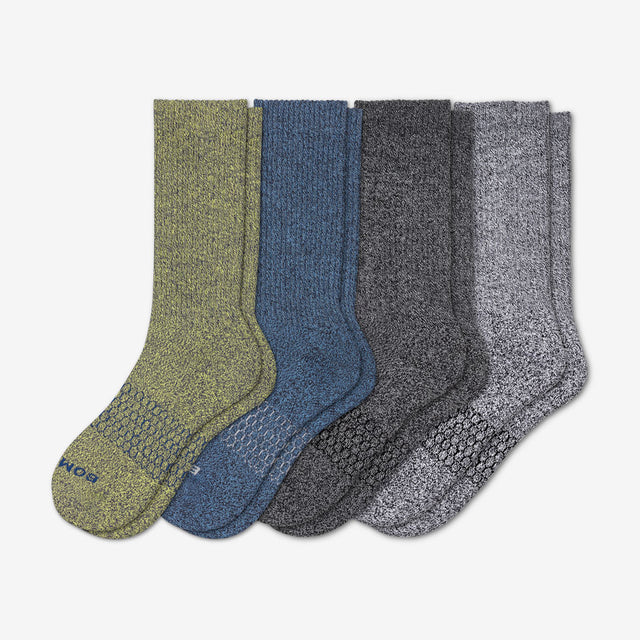 mixed-dark Men's Dark Fall Marls Calf Four-Pack