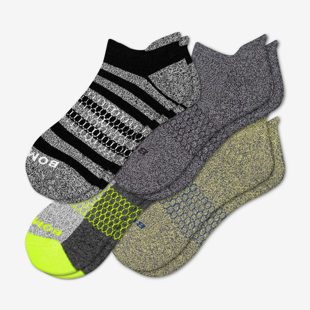 mixed Men's Neon Marls Socks Four-Pack