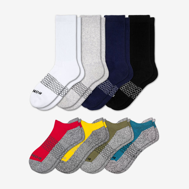 mixed Men's Marled Originals & Solids Socks Eight-Pack
