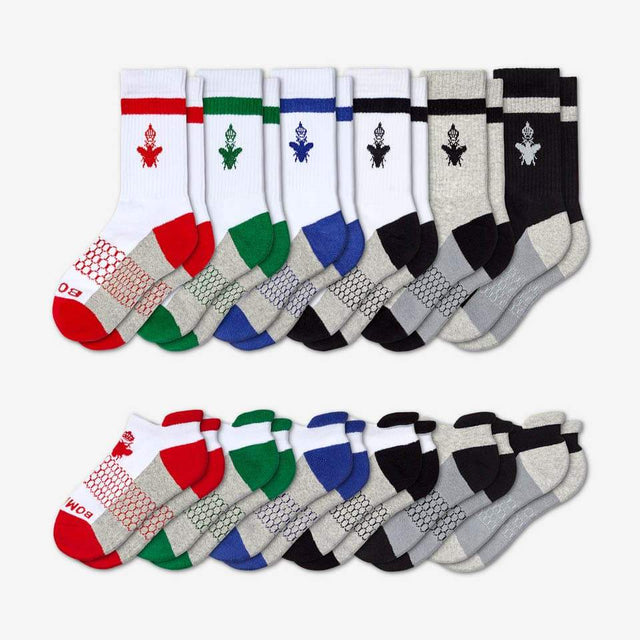 mixed Youth Champions Calf And Ankle 12-Pack