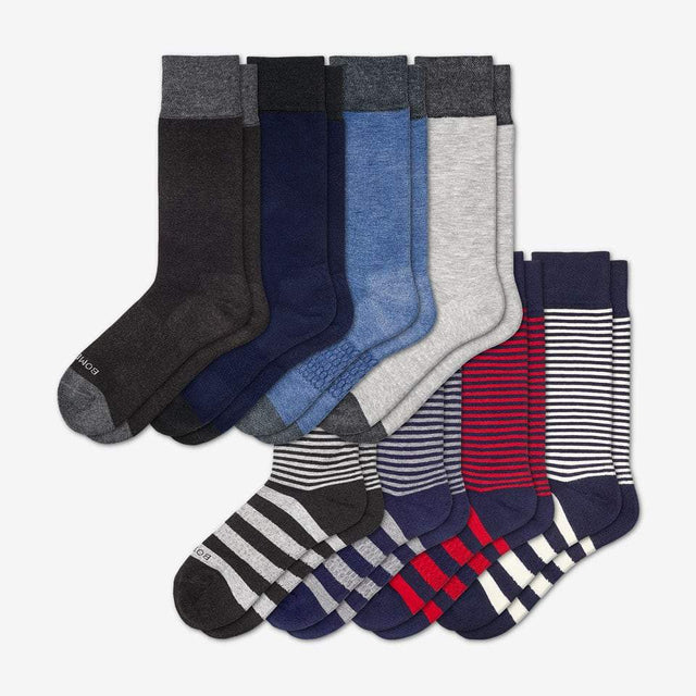 mixed Men's Dress Solid/Stripe 8-Pack