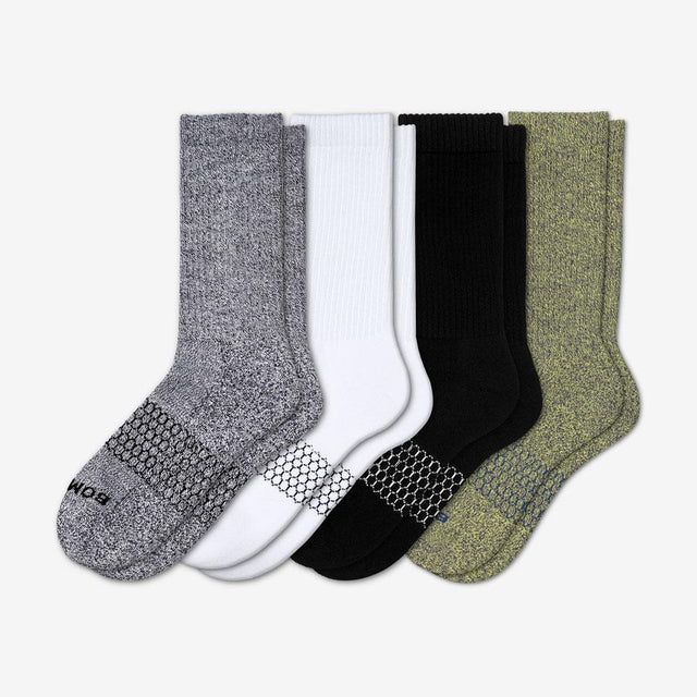 mixed Men's Marls & Solids Calf Four-Pack