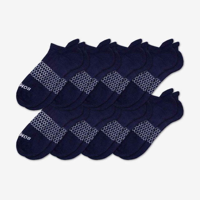 navy Men's Solids Ankle Eight-Pack