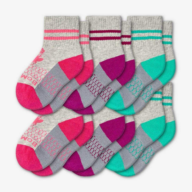 pink-purple-teal Toddler 6-Pack
