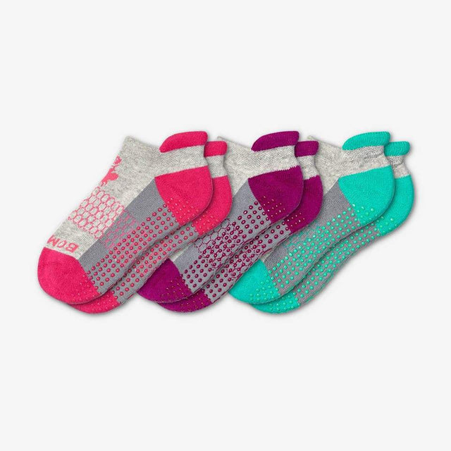 pink-purple-teal Youth Grippers 3-Pack