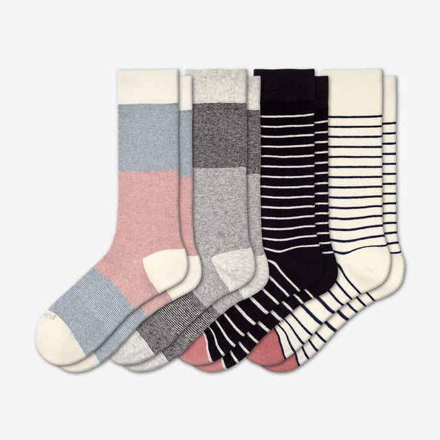 stripes The Women's Lightweight Crew Striped Four-Pack