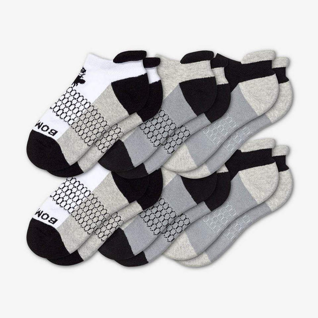 white-grey-black Youth Ankle Six-Pack