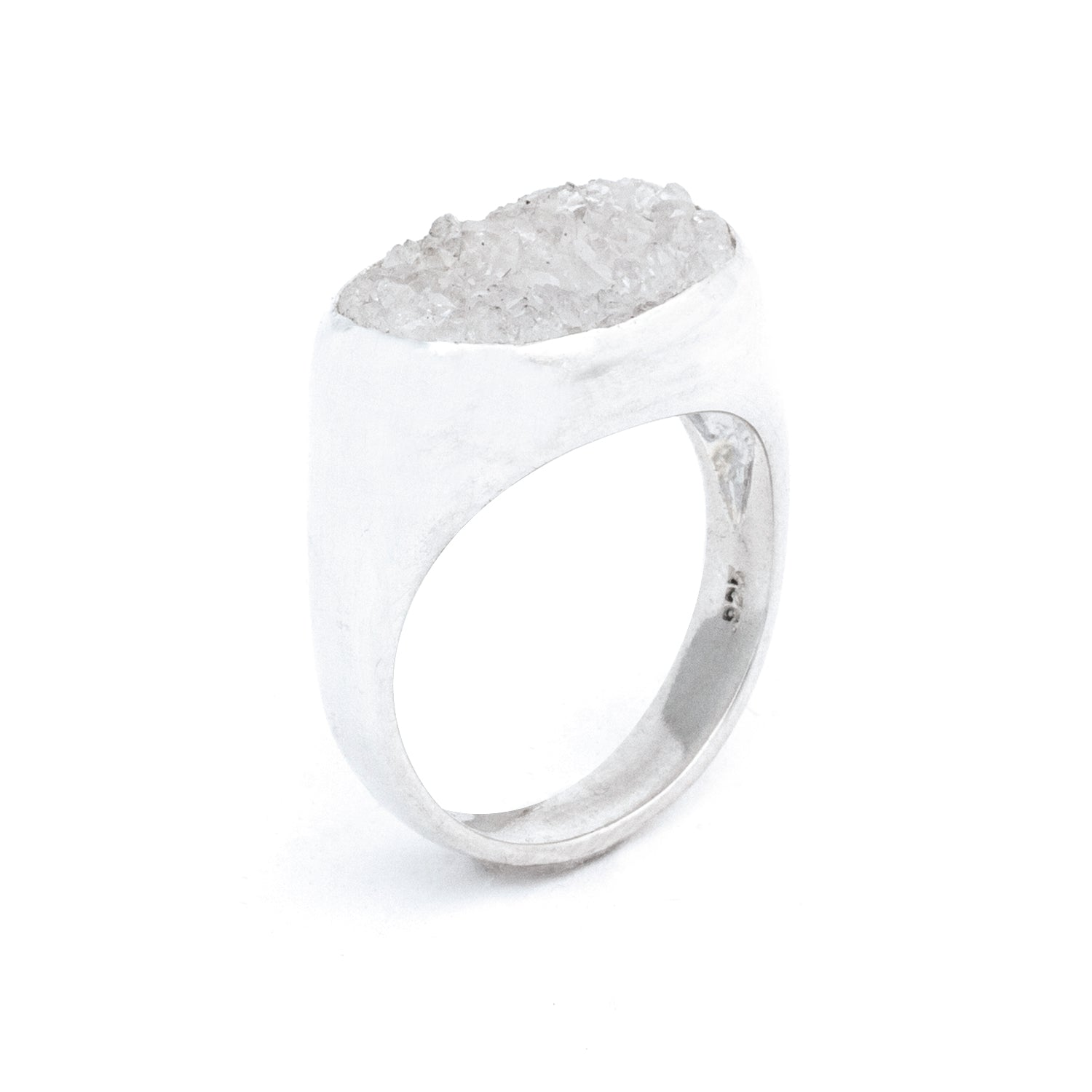 SIGNATURE DRUZY SIGNET RING