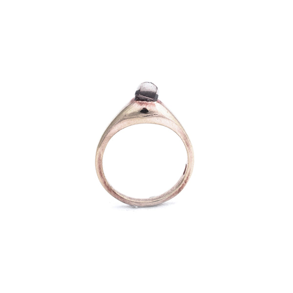 14k Rose Gold Vermeil PETITE Smoky SOLITAIRE :: SZ 6 :: Signature Collection