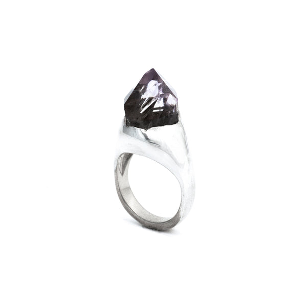 Sterling Silver Jumbo Amethyst SOLITAIRE :: SZ 7 :: HOLIDAY 2017