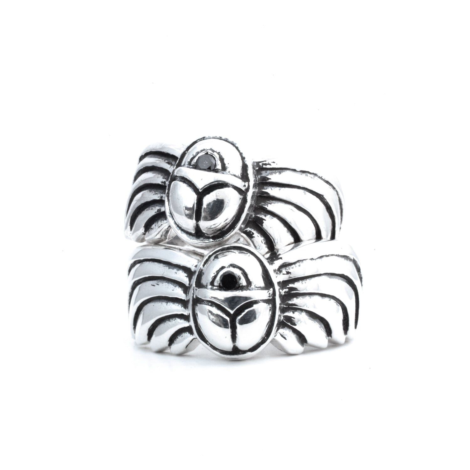 Sterling Silver & Black Diamond XEPER RING :: Signature Collection