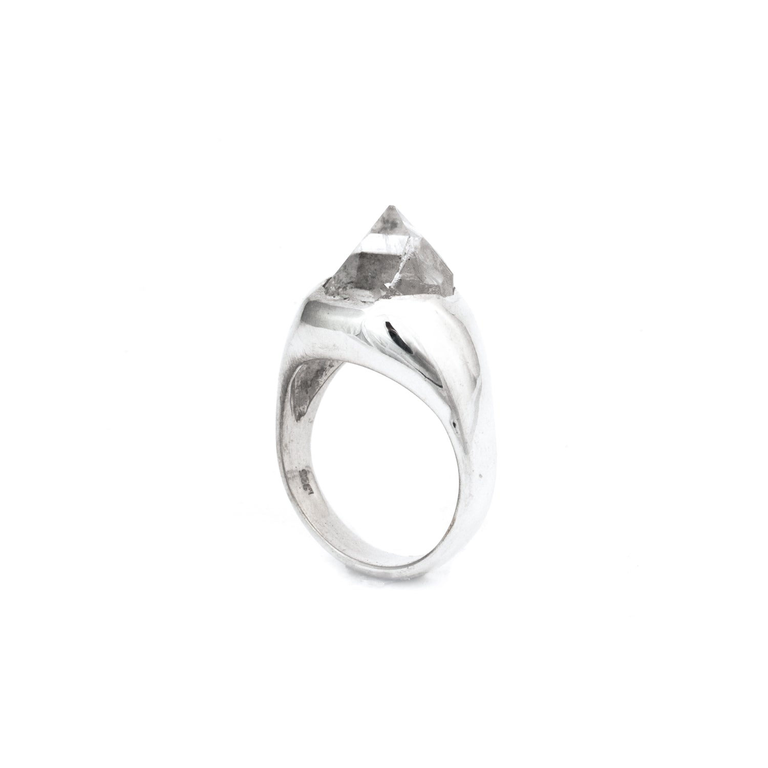 Sterling Silver Grand Quartz SOLITAIRE :: SZ 8 :: HOLIDAY 2017