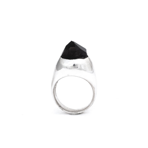 Sterling Silver Grand Smoky SOLITAIRE :: SZ 6 :: HOLIDAY 2017