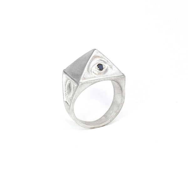 Sterling Silver & Black Diamond THELEMA RING