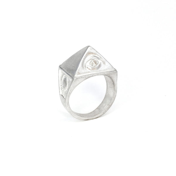 Sterling Silver & White Diamond THELEMA RING  :: Signature Collection