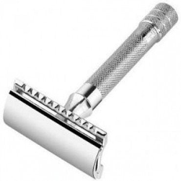 Merkur, Double Edge Safety Razor, Straight Cut, Chrome-Plated - The Shaving Kit