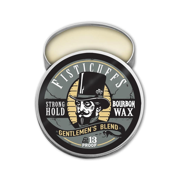 FISTICUFFS STRONG HOLD MOUSTACHE WAX GENTLEMEN BLEND BOURBON