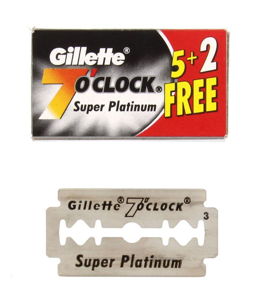 Gillette 7'Oclock Super Platinum Blades 5/PKG - The Shaving Kit