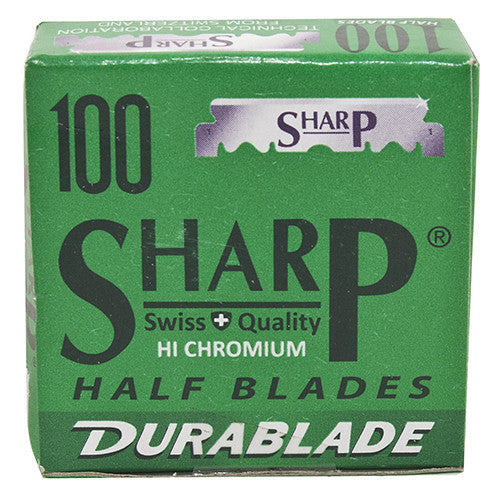 100 SHARP Hi-Chromium Half Blades for Professional Barber/Shavette Razors - The Shaving Kit