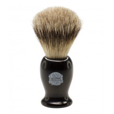 Progress Vulfix Super Badger Shaving Brush, Medium Black Handle - The Shaving Kit