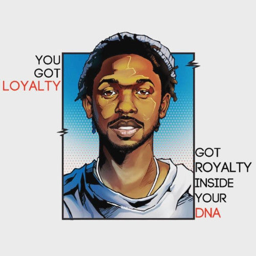 Kendrick Lamar DNA Greeting Card