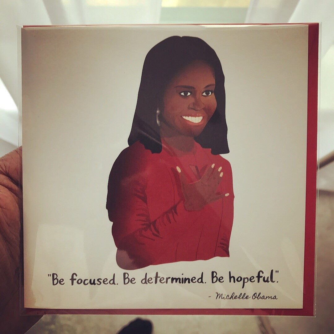 Michelle Obama Forever FLOTUS Greeting Card
