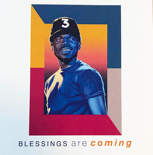 "Chance The Rapper ""Blessings"" Greeting Cards x3"
