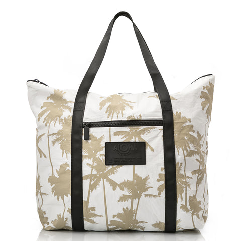 Coco Palms Zipper Tote, black