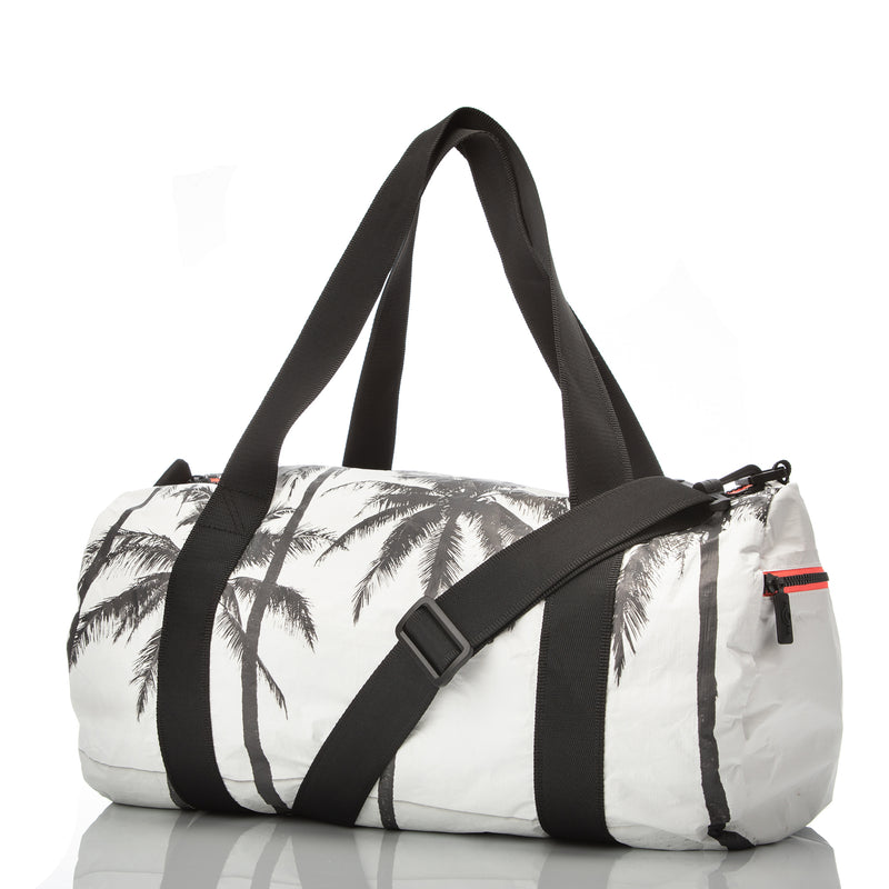 Pinstripe Mini Hip Pack in White on Black