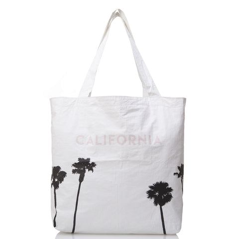 California Palms Reversible Tote, black