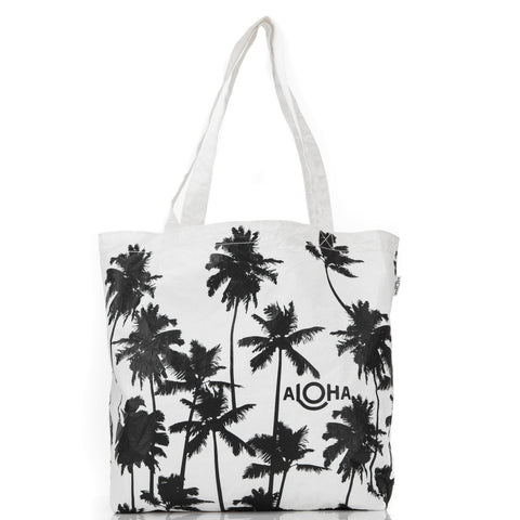 Coco Palms Reversible Tote in Black