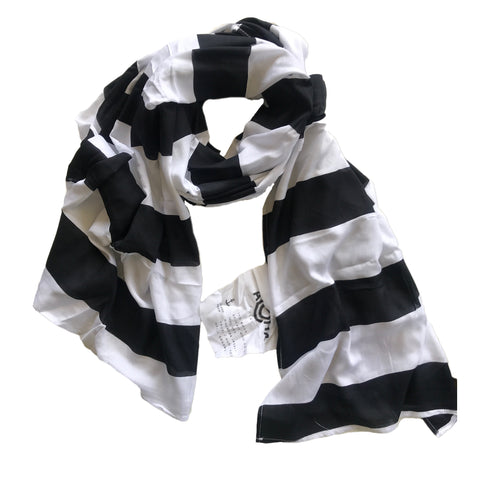 Stripe Pareo in Black