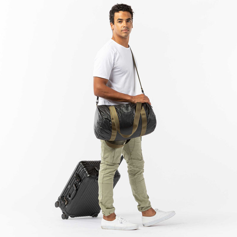 ALOHA Seal Duffle in Cool Gray on Black
