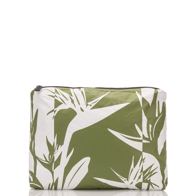Small Birds in Paradise Shade Pouch in Seaweed